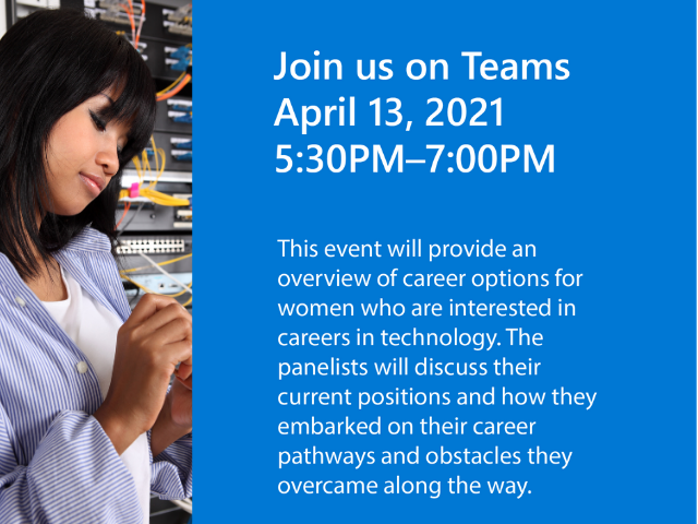 Pathway to Tech Careers for Women Flyer