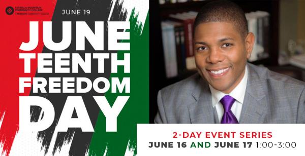 Juneteenth Flyer with image of Dr. Matthew Whitaker
