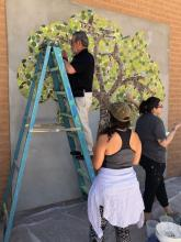 Mural Tile Installation with Dr. Lara