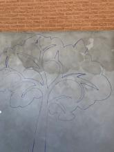 Initial phase of Mural Installation
