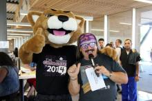 Roary and Mr. Dave Topping