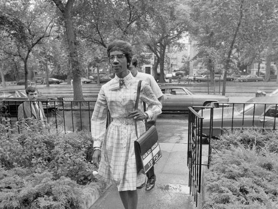 Senator Shirley Chisholm working as a census taker in the 1970 census.