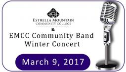 EMCC Community Band Winter Concert Performance