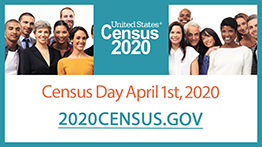 Participate in the Census by going to census.gov on April 1, 2020.