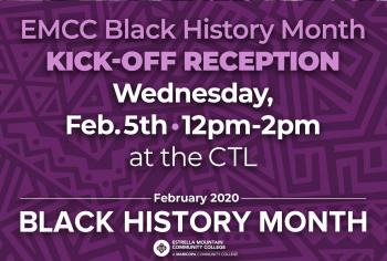 Kick-off Reception, February 5 12-2 pm
