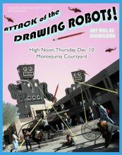 Student Art Performance: Drawing Robots!