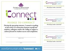 iConnect pledge card and report cards
